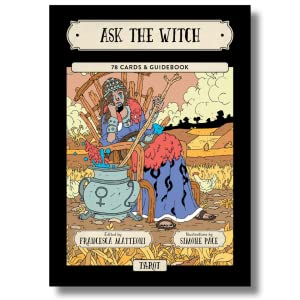 tarot card deck as the witch