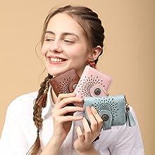 rfid bifold wallet women