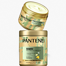 mascara intensiva, tratamento, pantene, bambu, rícino, café, crescimento, forte, raiz