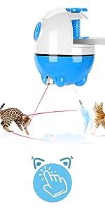 cat toy clip blue