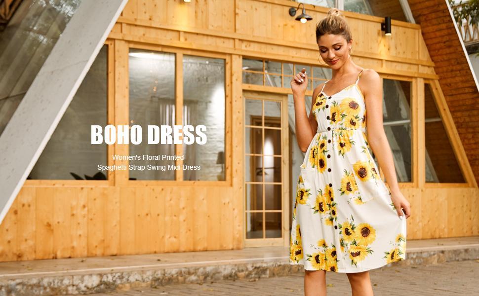 dress with pockets for women, sundress for women,floral dresses for women