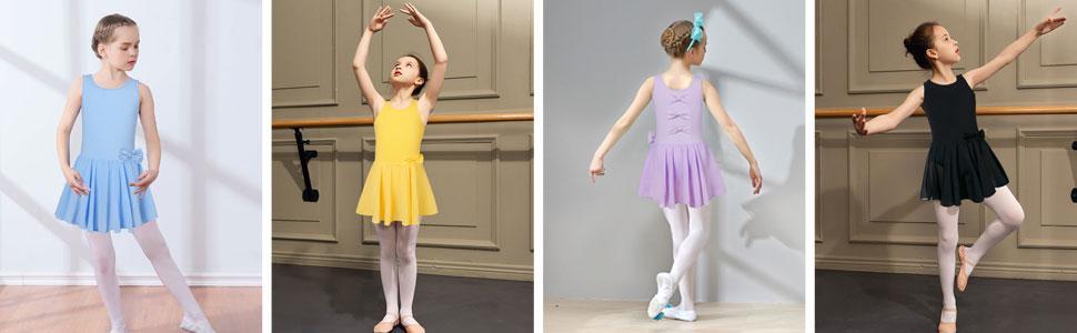 Girls dance dress ballet leotard with skirt ballerina dress dance wear for stage performance