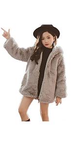 Girls Fur Jacket Coat