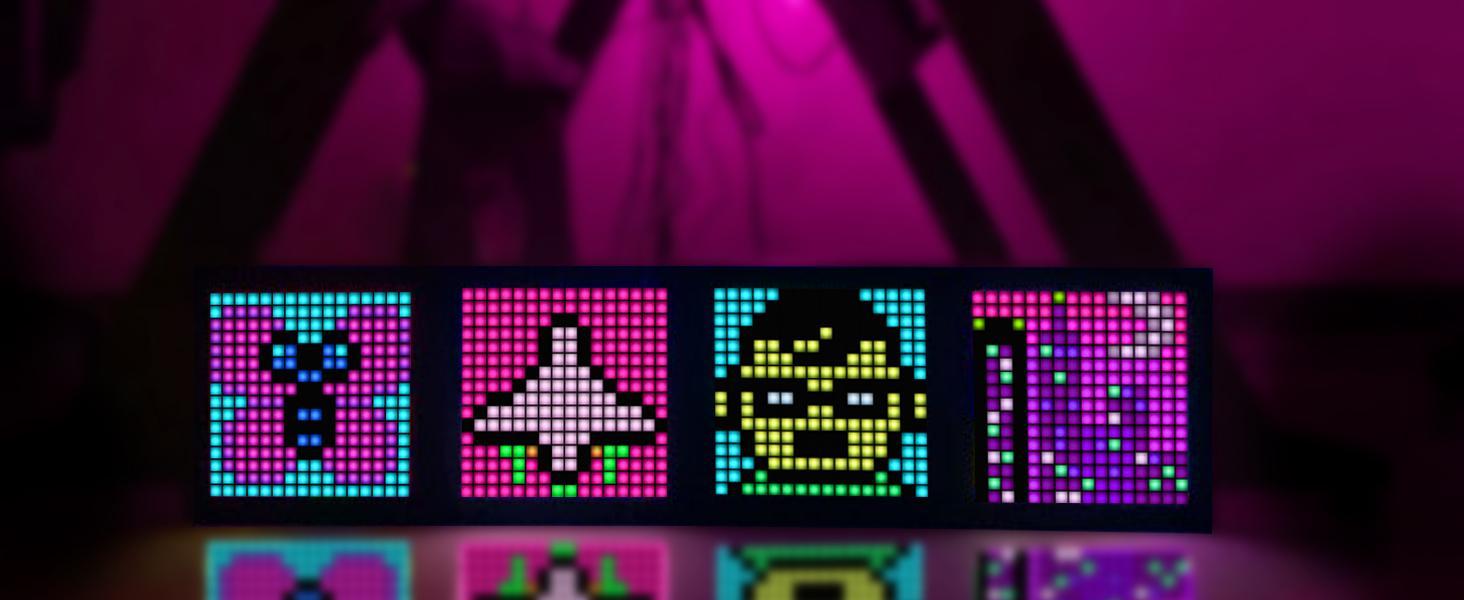 pixel art led picture frame