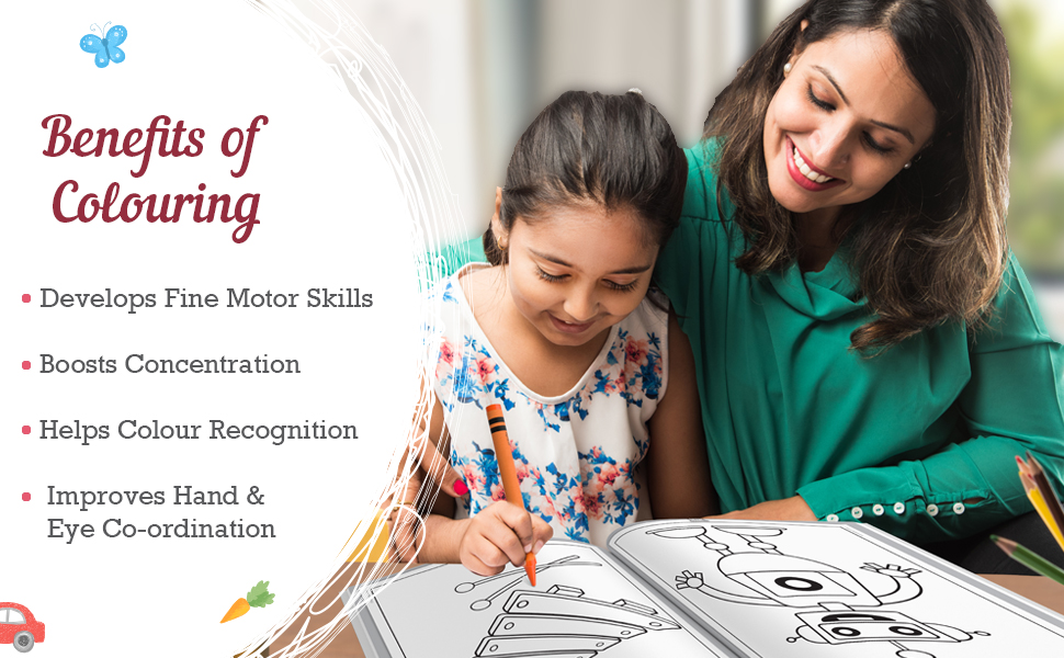 Jumbo Colouring Book Benefits of Colouring