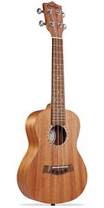 """Ashthorpe ukulele, 23"""" concert size, mahogany body and neck, walnut fret and bridge, 4 string"""