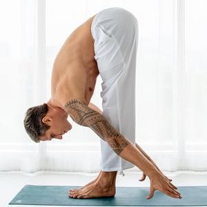 mens cotton linen loose fit joggers sweatpants  pajama lounge beach yoga pants for men with pocket