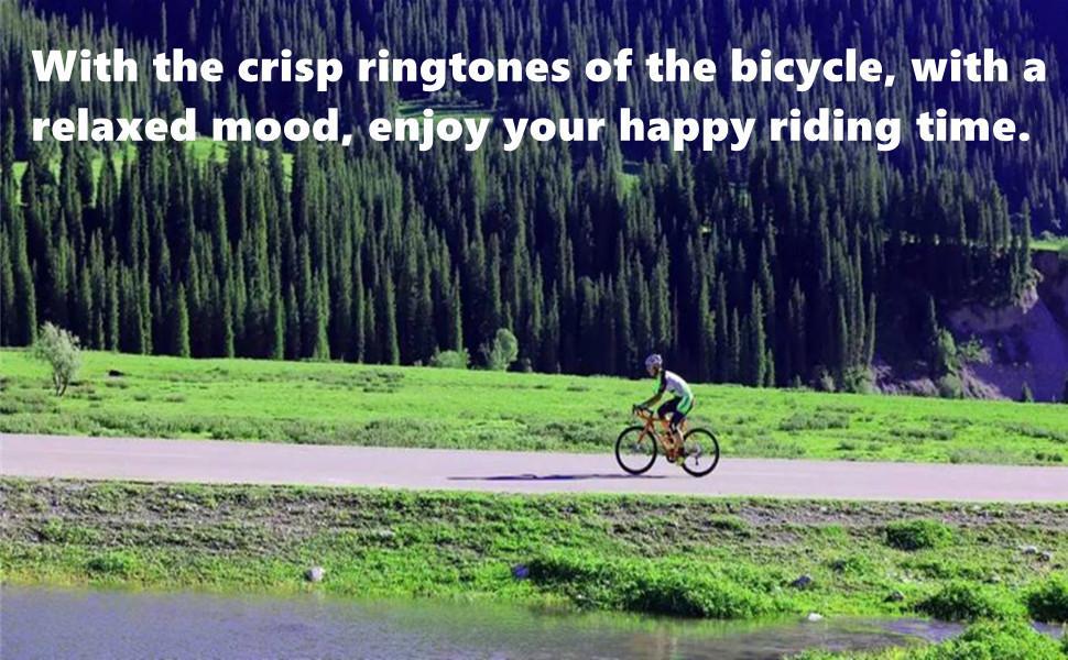 Our mountain bike bell ringtones can reach 90-100 decibels.