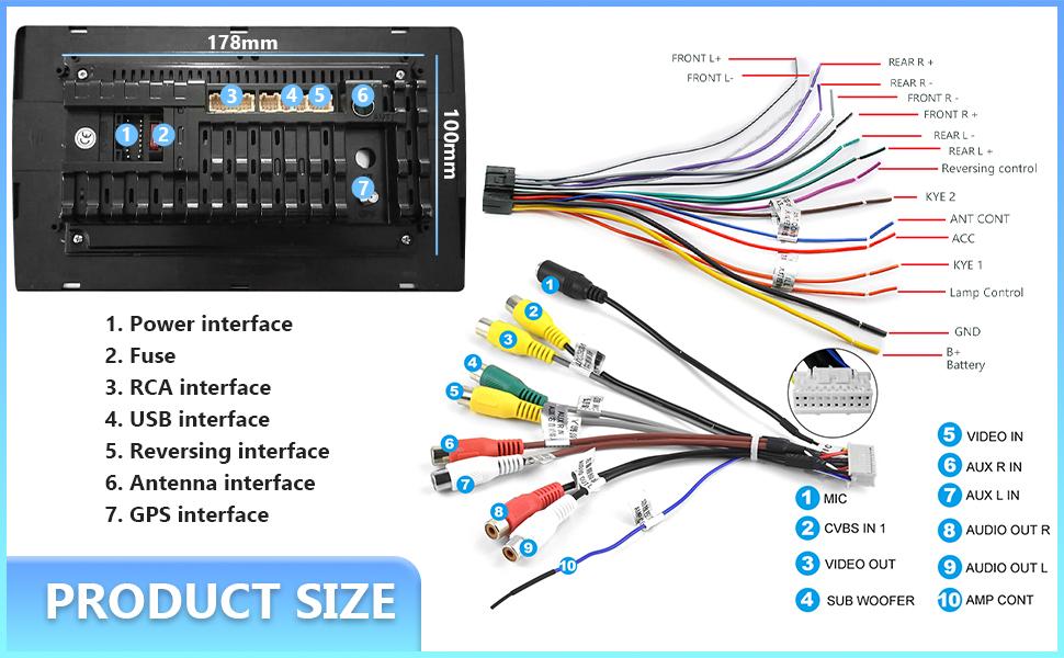 wiring car screen 2 din