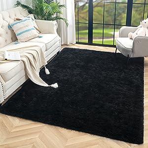 black rug for bedroom