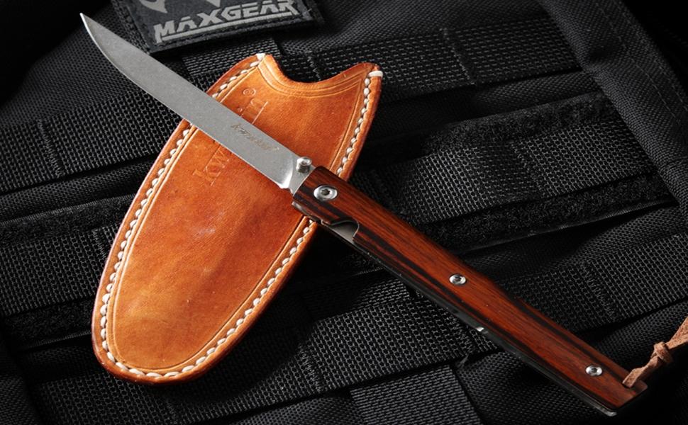 Desert Knife with Iron Wood Handle