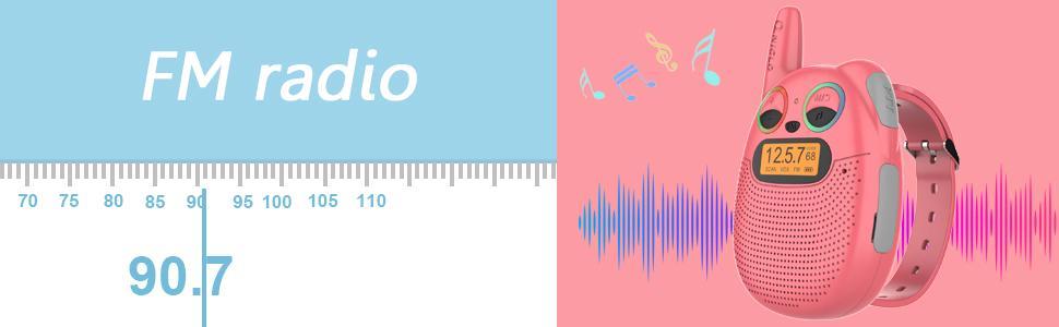 Q136 fm radio walkie talkies for kids