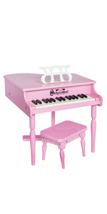 Pink schoenhut piano for kids