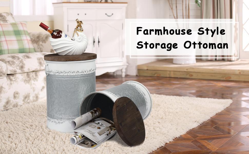farmhouse storage ottoman