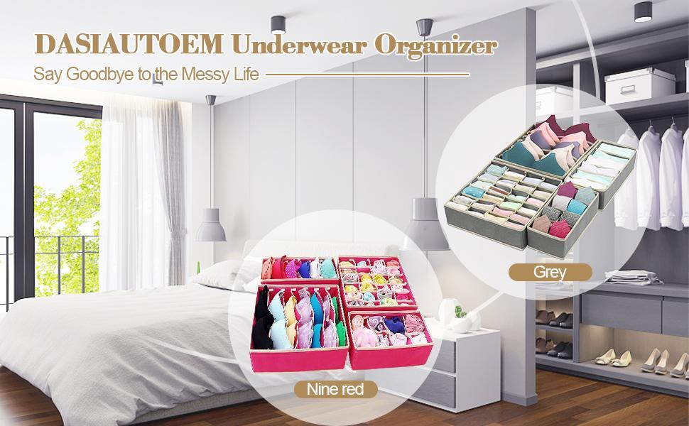 Aufbewahrungsboxen für Unterwäsche wickelkommode organizer Unterhosen Ordnungsbox  Schubladen