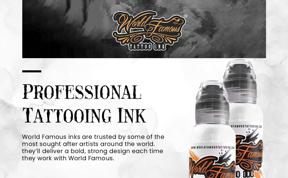 Tattoo Ink Banner White