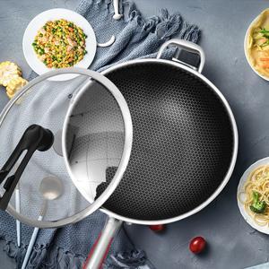 Stainless steel nonstick wok