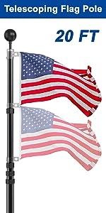 20 ft flag pole