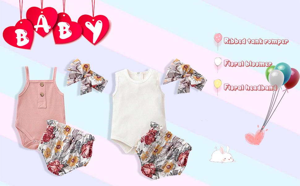 ribbed tank outfit for baby girl