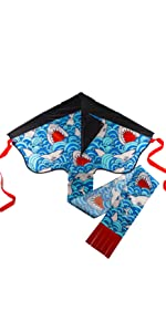 Image of Delta Kite with Sharkies swimming in blue water