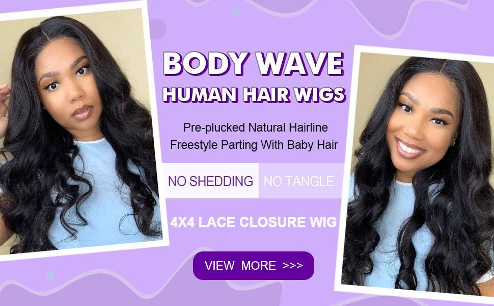 4*4 lace closure wigs for black women
