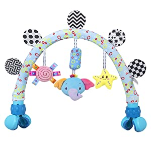 caterbee Travel Arch Stroller Toys for Infant & Toddlers