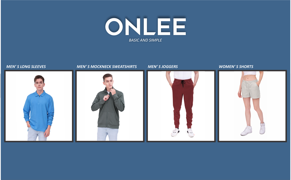 ONLEE focuses on dynamic designs which are suitable for daily and outdoor activities.