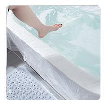 Begin to soak in the bath tub