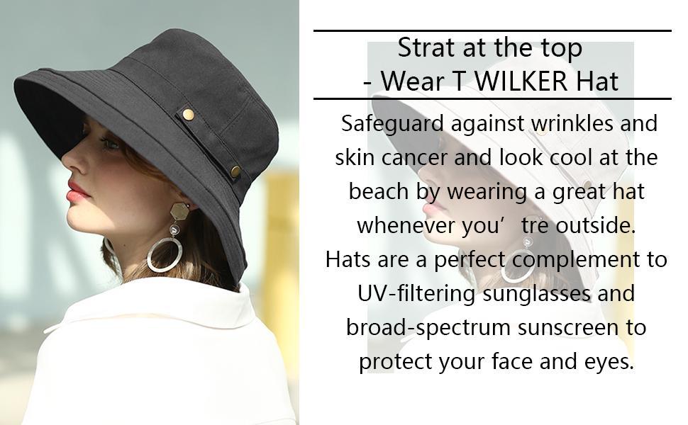 T WILKER Sun hat for women