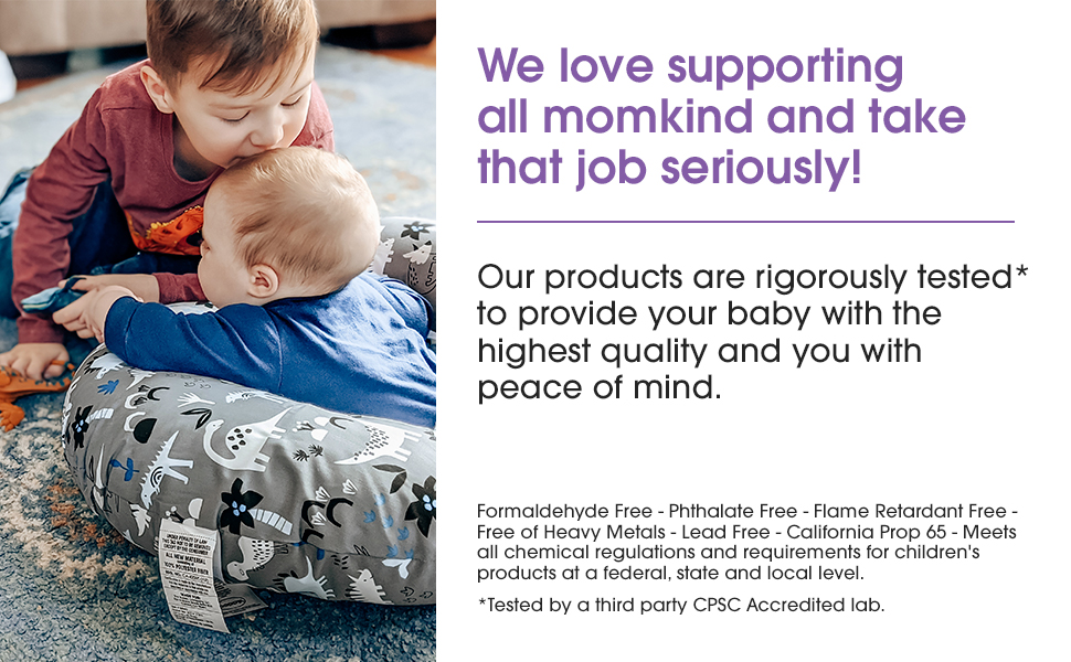 Formaldehyde, Lead, Flame Retardant Free, No Phthalates, and more. CPSC Accredited 3rd Party Lab.
