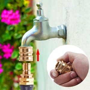 Garden hose quick connect