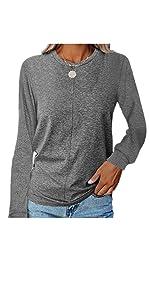 Women's T Shirts Casual Long Sleeve tops