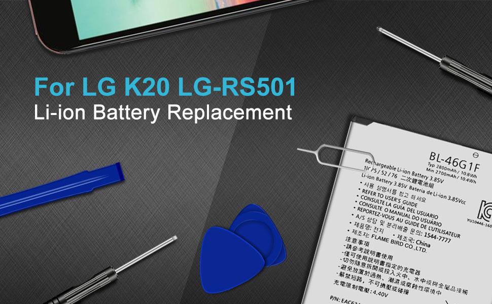K20 V K20v VS501 Replacement Battery BL-46G1F Battery