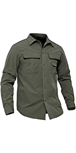 EKLENTSON Fishing Shirts for Men Sportswear Color Block Big and Tall Top Tops