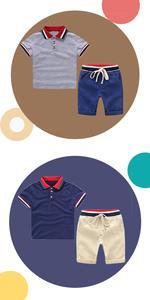 Niño Camisetas de Manga Corta y Pantalones Cortos 2pcs Chicos Ropa Sets Niños Dibujos Animados