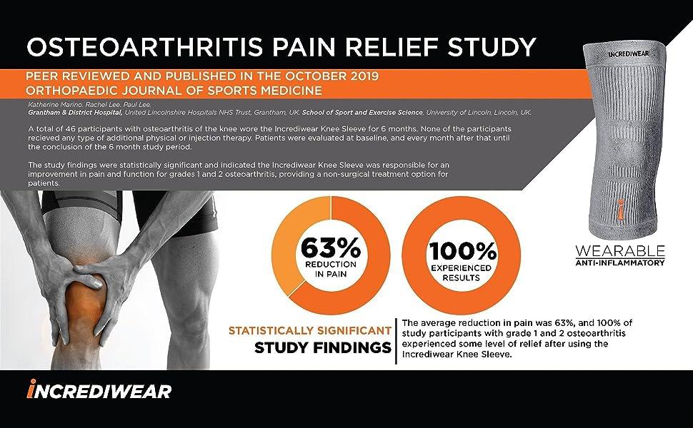 incrediwear osteoarthritis pain relief study