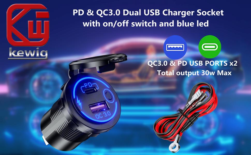 USB C car charger socket DIY kit
