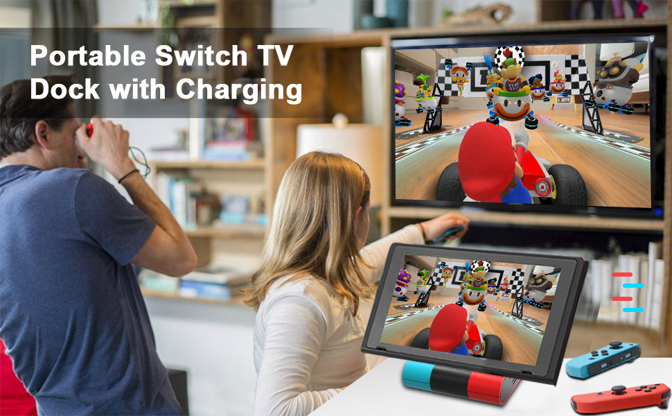 switch tv dock with charging