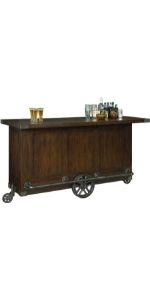 Bev Trolley Bar Howard Miller Rustic Hardwood