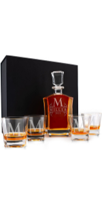 Personalized Whiskey Decanter Set with Glasses