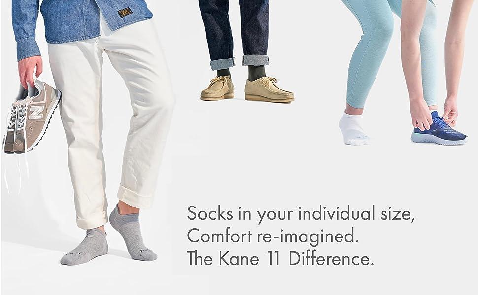 kane11 socks in your shoe size