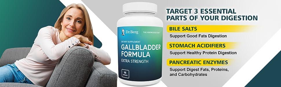 Dr. Berg Gallbladder Formula Extra Strength Targeted essential part of digestion Digestion