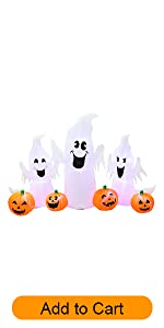 pumpkins ghosts infaltable
