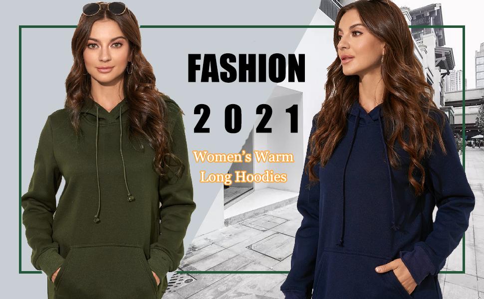 ladies long hoodies