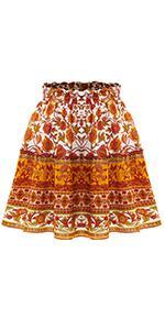 Boho Floral Skirt