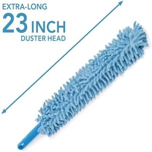 Flexible Feather Magic Microfiber Cleaning Duster Brush with Extendable Rod, Dust Cleaner