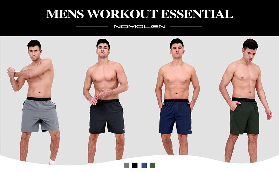 Men's workout running shorts