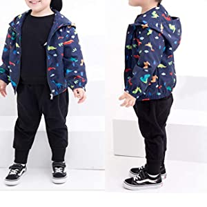 Toddler Boy Outdoor Lightweight Dinosaur Jacket