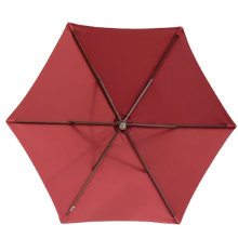 9ft 6rib brick umbrella deep red color great for summer use