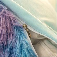 fuzzy bedding set plush shaggy duvet cover set